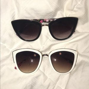 Floral Cat eye fashion sunglasses